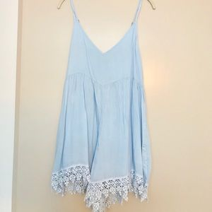 ✨NWT Light Blue Lace Romper💙✨